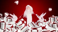 santa tossing pkgs
